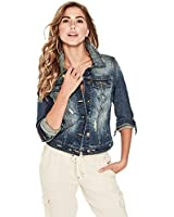 G by GUESS Women's Alicia Basic Denim Jacket