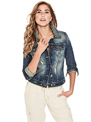 G by GUESS Women's Alicia Basic Denim Jacket Basic Denim Jacket