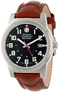 Wenger Swiss Military Men's 72917 Classic Field Black Dial Brown Leather Military Watch
