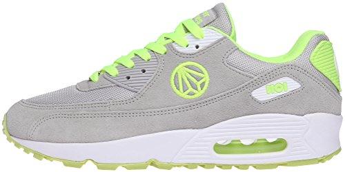Paperplanes - 1101 Coussin d'Air Unisexe-Sneakers Coloré et tendance - Gris - Gray Green, 43,5