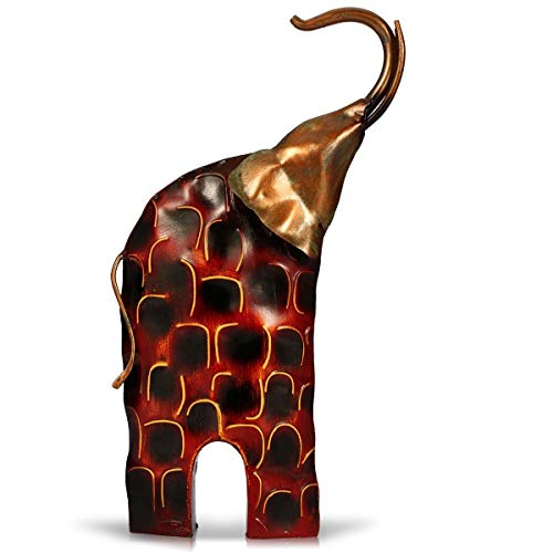 Bozhiyi Home Decoration Resin Crafts Ornaments Metal Horse Sculpture Animal Gifts Ornament Crafts Home Office Decorations Gift for Christmas (Color : Elephant 1) (Metal Horse Sculpture)