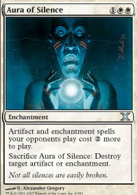 Magic: the Gathering - Aura of Silence (6/383) - Tenth Edition - Foil