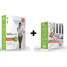BELLYBUDS, Pregnancy Baby-Bump Headphones & SOUNDBUB, White Noise Machine and Bluetooth Speaker BUNDLE PACK | Bella the Bunny, White