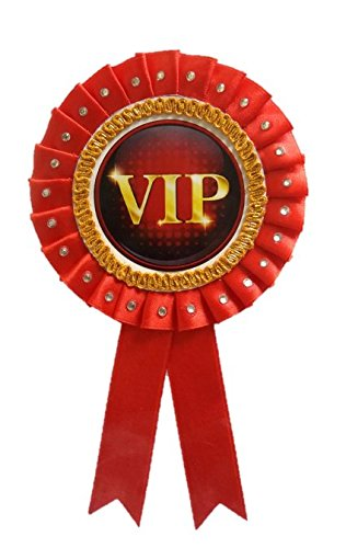 Buy LTM VIP Ribbon Badges Red (Pack of 1) Online at Low