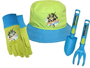 Teenage Mutant Ninja Turtles (TMNT) Kids Gloves with Bucket Hat, Trowel and Cultivator Combo Pack, TM14P03, Size: Kids