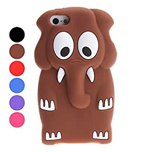 GJY 3D Design Cartoon Elephant Pattern Soft Case for iPhone 5/5S (Assorted Colors) , Purple