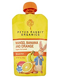 Peter Rabbit Organics Mango, Banana and Orange Snacks, 4-Ounce (Pack of 10) BOBEBE Online Baby Store From New York to Miami and Los Angeles