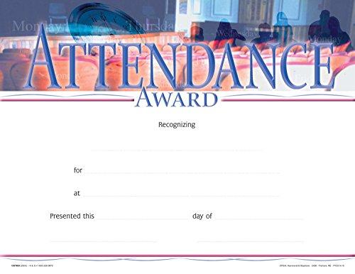 School Smart 1337654 Attendance Award Recognition Focus Award (Pack of 25)