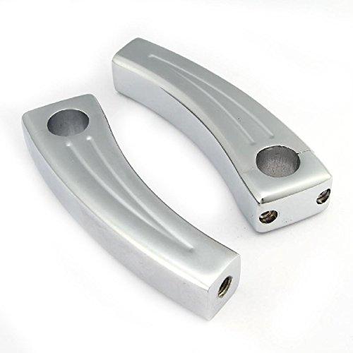 INNOGLOW Motorcycle Handlebar Risers Custom 7 Inch Bars Grips Billet 5.5
