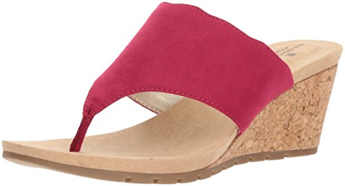 Bandolino Women's Sarita Wedge Sandal Raspberry buy cheap affordable discount marketable outlet cheap quality wide range of online q1fq6rvN3R