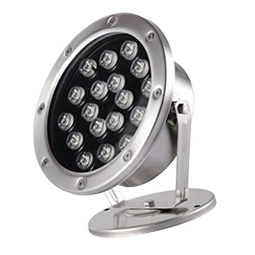 MagiDeal 18W LED Flood Light Outdoor Underwater Spot Light Pond Lamp - Pure White by Unknown