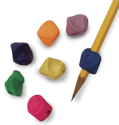 Pencil Grip The Classics Mini Grip Ergonomic Writing Aid, For Right or Left Handed Users, Assorted Colors, Pack of 372 (TPG-175) by The Pencil Grip