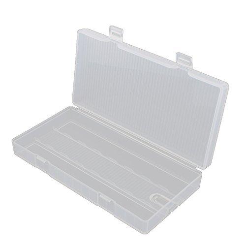 Caja de almacenamiento de plstico transparente eDealMax rectngulo batera titular de contenedores 8 x 18650
