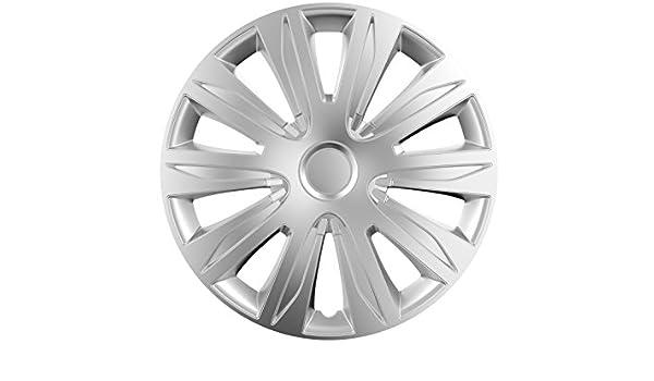 15 Juego de 4 tapacubos TAPACUBOS de rueda Modelo Nardo Plata 15 Pulgadas: Amazon.es: Coche y moto