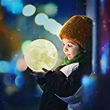CHARISMAGIC 3D Moon Lamp 16 Colors 5.9 inch Night