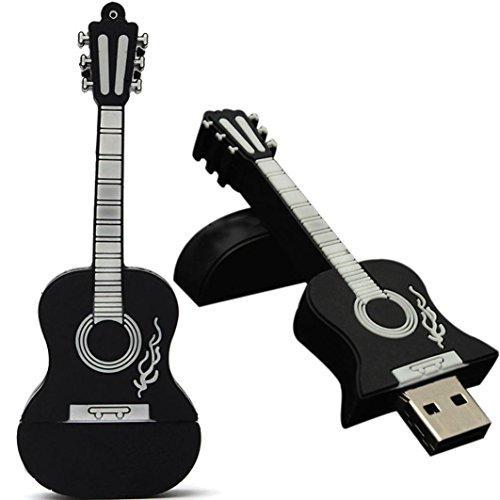 Ikevan 32GB Guitar USB 2.0 Metal Flash Memory Stick Storage Thumb U Disk (4GB, Black)
