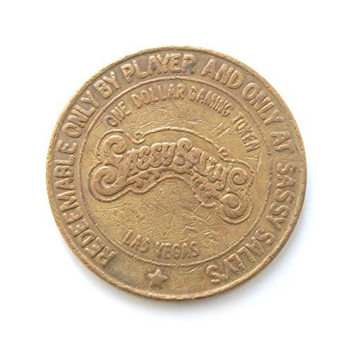 "1987 One Dollar""Sassy Sally's Casino"" Gambling Token Coin, Las Vegas, Nevada (Obsolete Design) $1 Used"