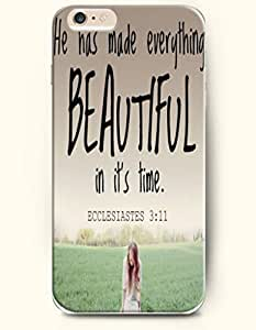 iPhone Case,OOFIT iPhone 6 (4.7) Hard Case **NEW** Case with the Design of He has made everything beautiful in it's time. Eccesiastes 3:11 - Case for Apple iPhone iPhone 6 (4.7) (2014) Verizon, AT&T Sprint, T-mobile