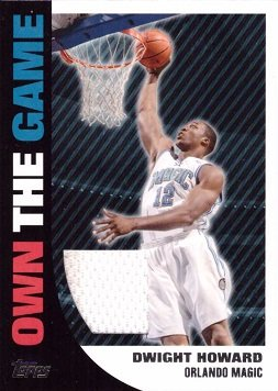 - 2008-09 Topps Own the Game Relics #OTGR9 Dwight Howard Game Worn Jersey Basketball Card