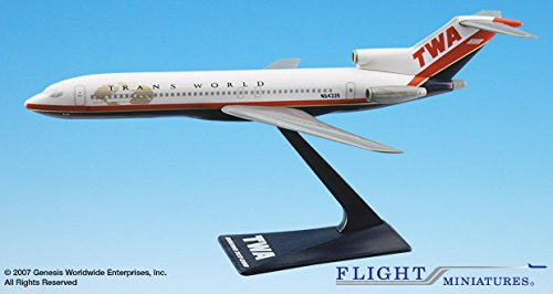 Flight Miniatures TWA Trans World Airline Old Boeing 727 1:200 Scale 1995 Livery # ABO-72720H-022