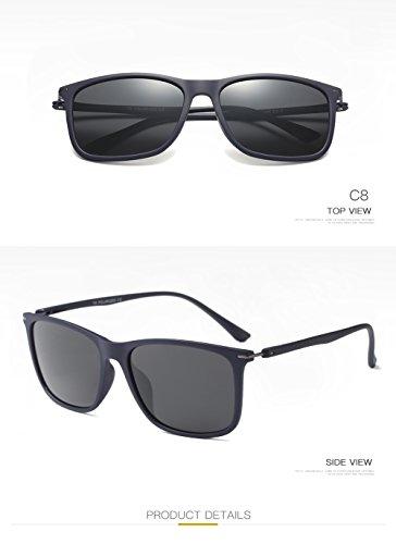 Mujer Sol De Gafas 400 Protección UV Polarizadas C4 para Aviator para C4 Hombre XHnq1