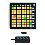 Novation Launchpad Mini MK2 Ableton Live Grid Controller with 4-Port 3.0 USB HUB