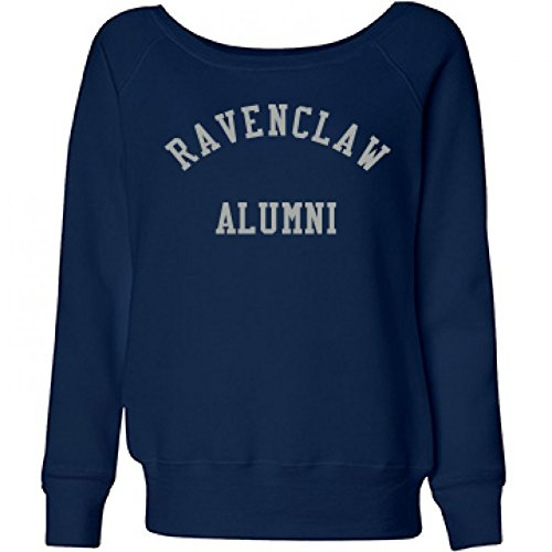Ravenclaw Alumni Costume: Ladies Triblend Wideneck Sweatshirt (Hogwarts Costumes For Women)