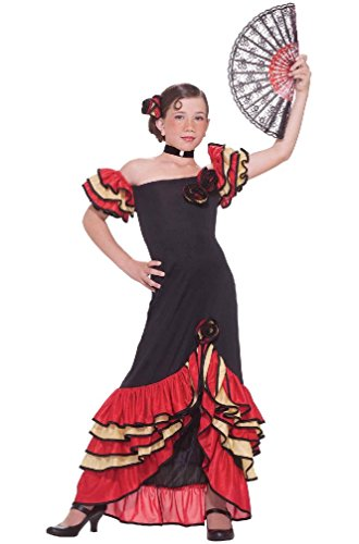 8eighteen Flamenco Spanish Dancer Girl Child Costume (L) (Girls Spanish Flamenco Dancer Costume)