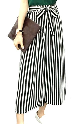 Comfy Women's Striped Soft Chic High Waist Palazzo Wide Leg Pants
