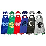 6 Sets Kids Mask Capes Superhero Costume Birthday Party Supplies for Girls Boys