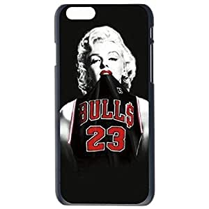 Fashion Custom Marilyn Monroe Chicago Bulls Michael Jordan Jersey Design Plastic Hard Case Cover Back Skin Protector For Apple iPhone 6G by Alexism Size104