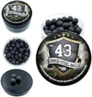 100x Premium Quality Hard Mix Rubber Steel Balls Paintballs Reballs Powerballs for Self Home Defense Training