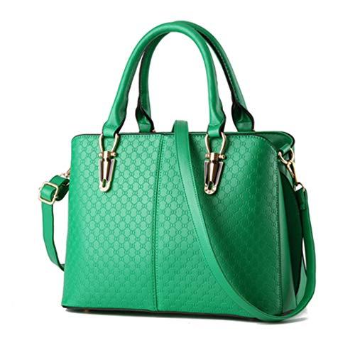 cuir Green en main Femme Solide Noir Bag Sacs Femmes à Sacs Handle Sacs PU à bandoulière Messenger Top xTwf00qn6