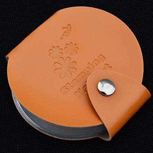 Tenworld Women Girl Stamping Nail Art DIY Image Plate Template Holder Case Bag Stamp Organizer Makeup Cosmetic Tool - Sunglasses Holder Diy