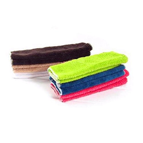 QISC No Mildew Smell from Sponges, Scrubbers, Wash Cloths, Rags, Brush | Outlast ANY Kitchen Scrubbing Sponge or Cotton Dishcloth (9.75'' x 9.75'', multi-color)