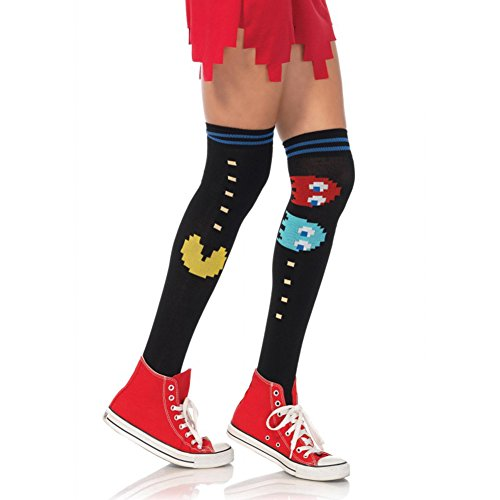 Ghosts Costumes Pacman (Pac Man And Ghost Knee Socks - Multicolor - One)