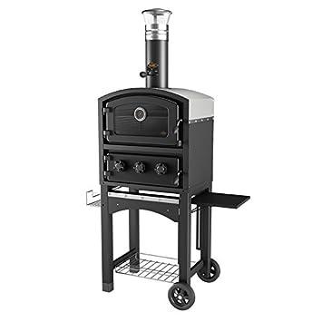 Fornetto leña horno y ahumador - Pizza al aire libre para horno - negro: Amazon.es: Jardín