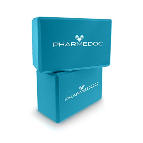 PharMeDoc Foam Yoga Blocks Set, 2 Pack