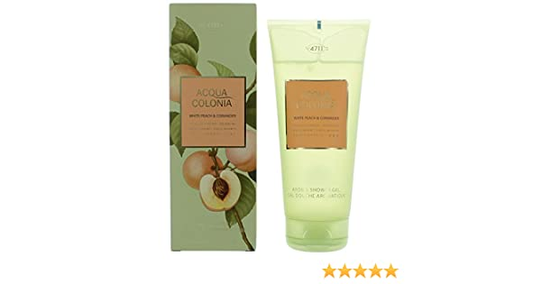 Amazon.com: Acqua Colonia White Peach & Coriander by 4711, 6.8 oz Shower Gel for Unisex: Beauty