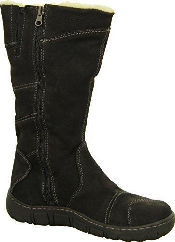 Kacper 4-0121 Damenschuh Stiefel Stiefelette Winterboots Warmfutter Echtleder Farbe: Schwarz