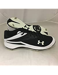 Under Armour Mens Clean Up II Low Pro Baseball Cleats Black/White Sz 13.5 M