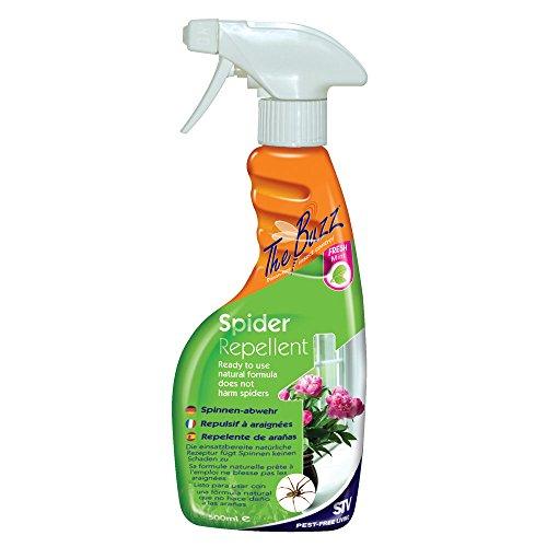 STV International The Buzz Spider Repellent Spray (Humane, Natural Mint...
