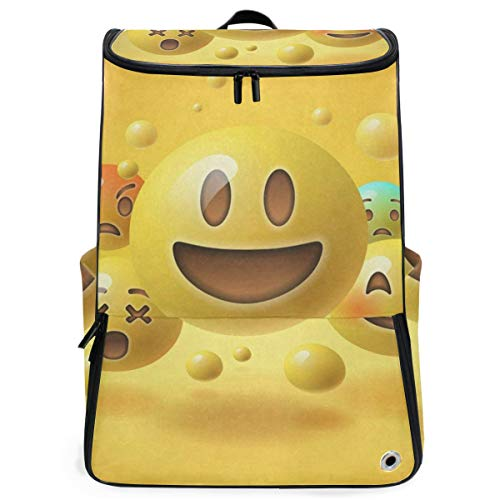 (Cute Egg Smiley Face Illustration Large Capacity School College Bookbag Laptop Computer Backpack for Men Women)