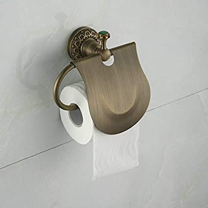 finitura in ottone anticato montaggio a parete Accessori bagno asciugamano anello portasciugamani Portasalviette Lavatory