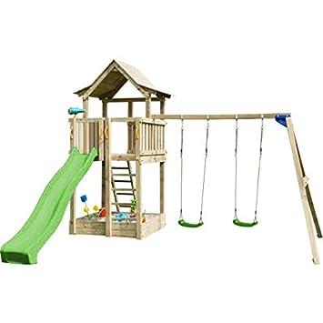 MASGAMES Parque Infantil Torre Pagoda con Columpio Doble: Amazon.es: Juguetes y juegos