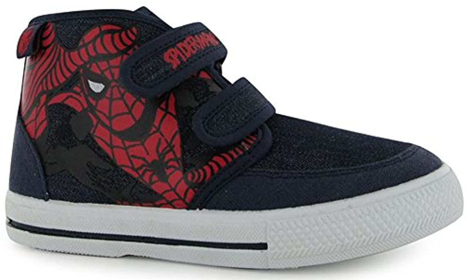 Infants Boys Girls Lightweight Canvas Hi Tops Trainers Shoes (C10 (28), Avengers)