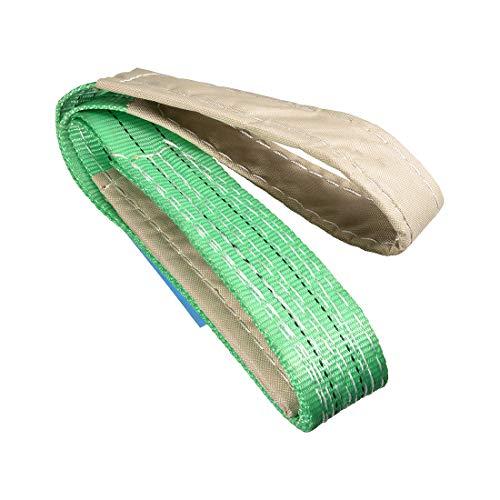 uxcell リフトストラップ 幅50 mm 全長2 M 建設リギング用 ポリエステル繊維材質 グリーン