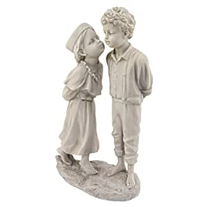 Design Toscano by Blagdon KY032448 - Estatua decorativa (resina), diseño del primer beso infantil