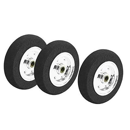 Amazon.com: Avión RC 3pcs piezas de plástico del eje Esponja habló neumático de la rueda 35mmx9mm: Car Electronics