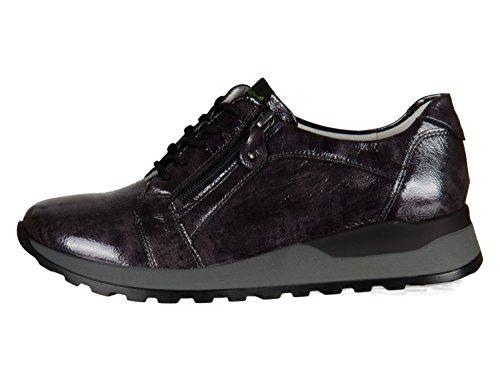 Gris 052 Mujer Cordones De Para Charol Waldläufer Zapatos 364023 143 zwR6F6